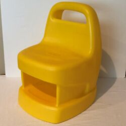 Little Tikes Child Size Chair Yellow Storage Chunky Style For Desk Table Play