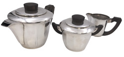 3-piece French Silver Tea/ Coffee Set In Art Deco Style