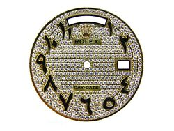 Custom Rolex Day-date President Diamond Pave Color With Arabic Marker Dial