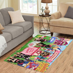 Personalized Carnival Kissing Booth German Shepherd Dogs Area Rugs Mats