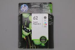 Genuine HP 62 Black and Tri Color Combo Cartridges $37.99