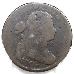 1807/6 S-272 R-4+ Pcgs Ag 3 Draped Bust Large Cent Coin 1c