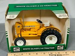 Oliver White Industrial 2 44 Toy Tractor 116 Spec-cast Yellow Nib 550 Rare