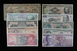 Mexico 10-note Set // 75 Years Of Mexican Currency Starting From The Revolution