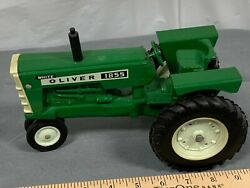 Original Oliver White 1855 Nf Tractor 116 Ertl 1970's With Fenders Nice