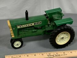 Original Oliver White 1855 Nf Tractor 116 Ertl 1970's With Fenders Dirty Orig
