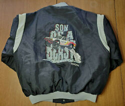 Vintage Team Toyota Swingster Racing Jacket Trd Men's Xl Son Of A Beast Rare