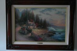 Pine Cove Cottage By Sea Ll - Thomas Kincade Andnbsp26.5w X 17.5and039h Plus Frame