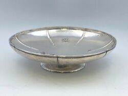 Lebolt And Co. Arts And Crafts Hammered Sterling Silver Compote Centerpiece Bowl