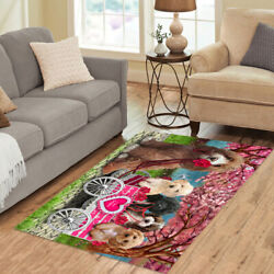 Personalized I Love Cart Cockapoo Dogs Area Rugs Mats