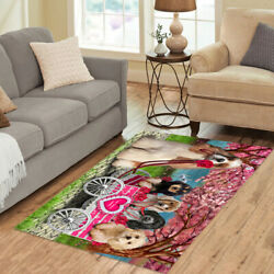 Personalized I Love Cart Cocker Spaniel Dogs Area Rugs Mats