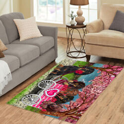 Personalized I Love Cart Dachshund Dogs Area Rugs Mats
