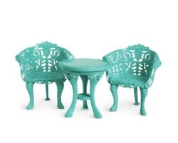 American Girl Doll Marie Grace Courtyard Furniture Garden Table And Chairs New