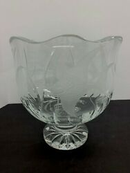 New Waterford Designers Gallery Angelfish Centerpiece Bowl. Signed 78/2500