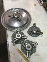 Tri Bar Rat Rod Chrome Vintage Hubcap Spinners Racing Hollywood Cal Custom Eelco