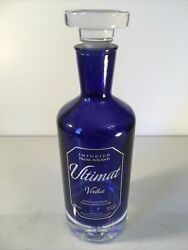 Ultimat Vodka Bottle 750 Ml With Glass Stopper Made In Poland Heavy Glass Empty