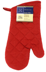 Home Collection Oven Mitt 100% Cotton Red