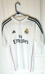 Rare Real Madrid Official Cristiano Ronaldo 2014/15 Jersey White Size S