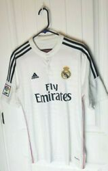 Rare Real Madrid Official James Rodriguez 2014/15 Jersey White Size M