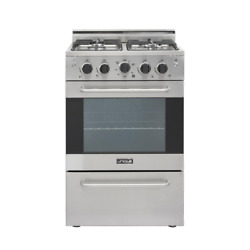 Prestige 24 In. 2.3 Cu. Ft. Gas Convection Range Sealed 4 Burners In Stainless S