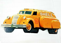 24 Shell Truck Oil Gas Station Company Logo Auto Car Garage Steel Ad Sign Style