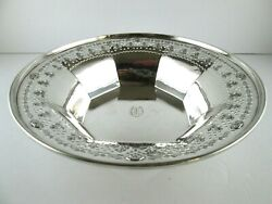 Black Starr And Frost Sterling Silver Fruit Bowl Reticulated Rim 10 In