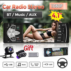 4.1and039and039 Hd 1din Mp5 Player Car Stereo Radio Bluetooth Fm Aux Usb + Rear Camera Kit