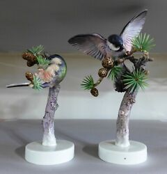 Royal Worcester Dorothy Doughty Birds - Chickadees And Larch 1938