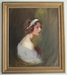 Antique.19 / 20th C.listed German Artist Max-friederich Rabes 1868-1944.