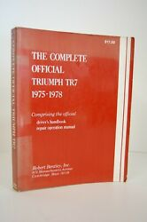 The Complete Official Triumph Tr7 1975-1977 Repair Operation Manaual And Handbook