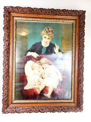 Antique Wood Picture Frame 34.5x27 Large 19th Century Victorian Gilt Gesso