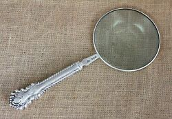 Huge Gadroon Pattern Sterling Silver Magnifying Glass London 1914