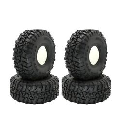 10x4pcs 120mm 1.9inch Rubber Tyres Wheel Tires For 1/10 Rc Rock Cler Axial