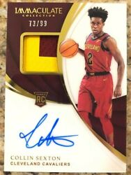 2018-19 Panini Immaculate Collin Sexton Rpa Rc Rookie Patch Auto Rookie /99