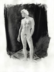 Drawing Nude Male Helios Charcoal Classic Nr 1/45/50 Esteban Pencil Free Ship