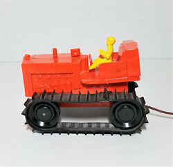 Vintage Bulldozer Battery Operated Remote Control Kid Toy Gmp 114 Rare