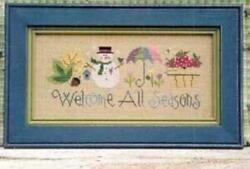 Welcome All Seasons by Lizzie Kate cross stitch pattern $8.79