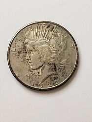 1922 Peace One Dollar Silver S1 Coin United States