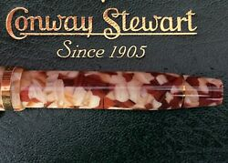 Huge Limited Edition Conway Stewart Churchill Fountain Pen-brown Shingle