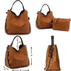 Fashion Designer Hobo Purse For Women Vegan Leather Top Handle With Extra Pouch $54.30