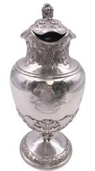 Scottish Sterling Silver Wine Carafe / Pitcher By Robert Gray And Son