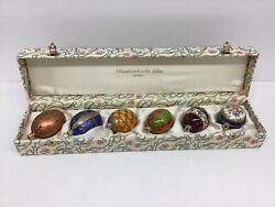 Germany 6 Oberfrankische Glas Glass Easter/ Christmas Egg Ornaments
