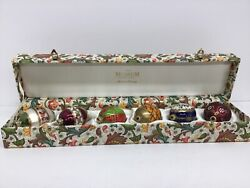 Vintage Germany 6 The Museum Company Glass Easter/ Christmas Egg Ornaments