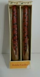 Vintage Russ Berrie Corn Cob Taper Candles Fall Thanksgiving 9 1/2