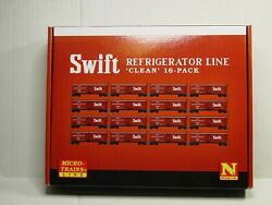 Micro-trains Line N Scale Swift Refrigerator Line Clean 16-pack 99301920