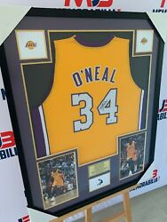 Shaquille O'neal Hand Signed La Lakers Jersey With Inscription Rare With Beckett