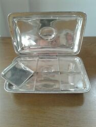 Antique Solid Silver Toasted Cheese Dish London 1801, With Removable Dishes.
