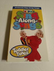 Cedarmont Kids Vhs Toddler Tunes Sing Along Songs Time Life