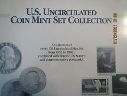 Us Uncirculated Coin Mint Set Collection Complete 1962 To 1988 Super Collection