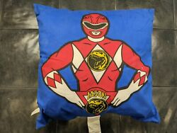 Vintage 1993 Mighty Morphin Power Rangers 18 Throw Pillow Double Sided Jason